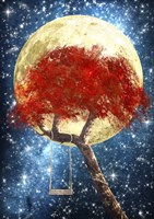 Swing Under a Golden Moonlight Fine Art Print