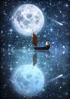 The Moon And Me Fine Art Print
