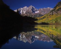 Autumn Majesty At Maroon Bells Fine Art Print