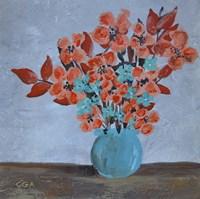 Flowers on Farm Table Fine Art Print