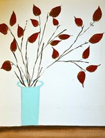 Rich Red Leaves Fine Art Print