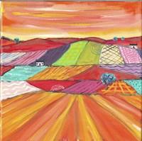 Glorious Cornfields In Scotland Fine Art Print