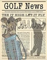 Golf News 1 Fine Art Print
