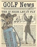 Golf News 2 Fine Art Print