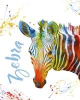 Colorful Safari Animals A Fine Art Print