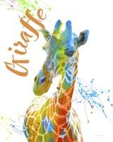 Colorful Safari Animals D Fine Art Print
