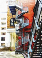 Staircase Contrasts Fine Art Print
