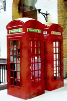 Two Red Telephone Boxes Fine Art Print