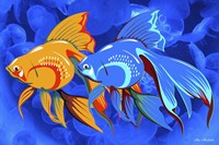 Blue And Orange Fish Fine Art Print