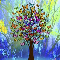 Butterflies Tree Fine Art Print