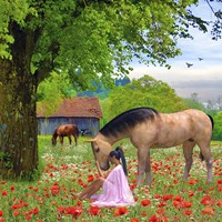 Love The Horses Fine Art Print