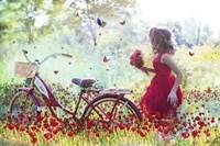 Flowers Girl Fine Art Print