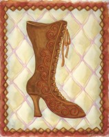 Boots Brown With Curlicues Fine Art Print