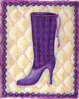 Boots Purple With Tiny Flowers Fine Art Print