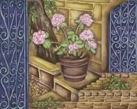 California Pots Geranium Fine Art Print