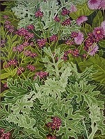 Dusty Miller with Pinks Fine Art Print
