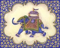 Elephant Cartouche AP Fine Art Print