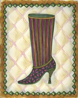 Boots Striped With Paisley Fine Art Print