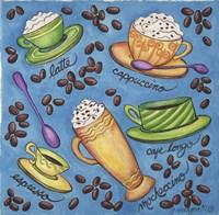 Coffees Collage Fine Art Print