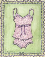 Lingerie Pink Cami Set Fine Art Print