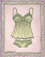 Lingerie Yellow Cami Set Fine Art Print