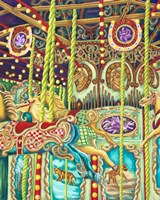 Carousel No Name Horses Fine Art Print