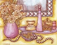 Shelf With Pearls Fine Art Print