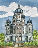 Synagogue Lodz Exterior Fine Art Print