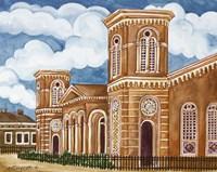 Synagogue Wiznitz Exterior Fine Art Print