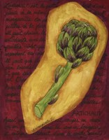 Veggies On Red L Artichaut Fine Art Print
