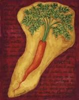 Veggies On Red L Carotte Fine Art Print