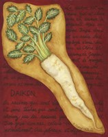 Veggies On Red L Daikon Fine Art Print