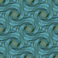 Blue Swirl Repeat Fine Art Print