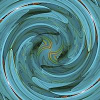Blue Swirl Fine Art Print