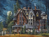 Decorating the Haunted House Fine Art Print
