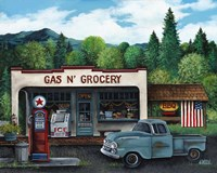 Gas and Grocery Fine Art Print