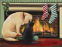 Waiting for Santa Fine Art Print