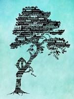 Bhakti-Bodhi Tree-Blue Fine Art Print