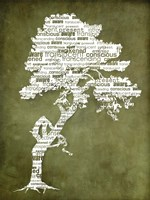 Bhakti-Bodhi Tree-Green Fine Art Print