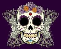 DOD-Flower Skull Fine Art Print