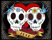 DOD-Love Skulls Fine Art Print