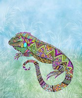 Electric Iguana Fine Art Print