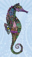 Electric Seahorse-Girl Fine Art Print