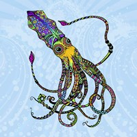 Electric Squid Fine Art Print