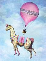 Flying Llama Fine Art Print