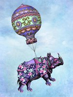 Flying Rhino Fine Art Print