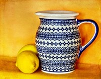 StillLife-Pitcher With Lemons Fine Art Print