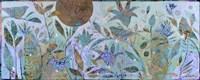 Three Birds In The Garden Fine Art Print