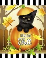 Hello Fall Cat Fine Art Print
