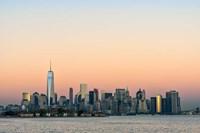 Manhattan Skyline At Sunset Fine Art Print